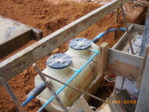 Install septic tanks