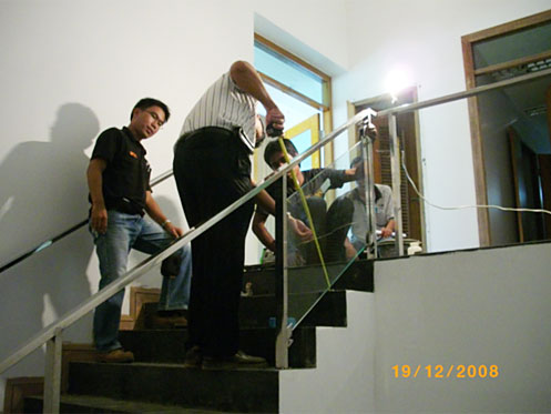 Railing at stair