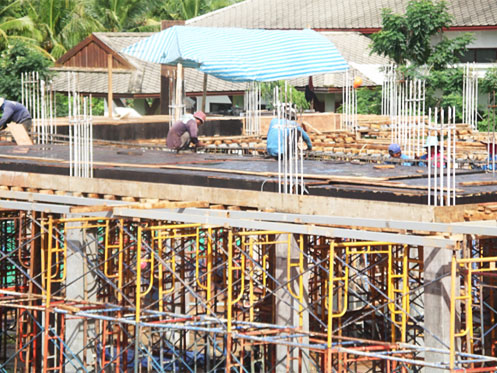 Prepare Formwork for second Beam and Slab Work